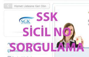 SSK sicil no sorgulama